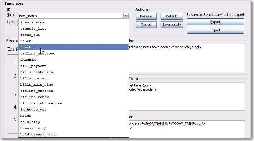 Receipt Template Editor – Receipt Layout