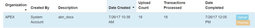 Offline processing complete