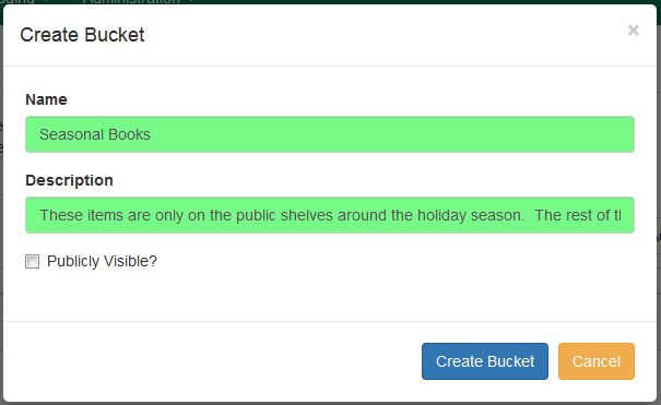 Copy Bucket Interface