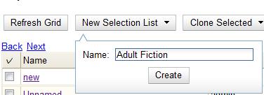 create selection list